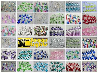 Crytals Beads Charms Chandelier Droplets Cut Glass Drops Prisms Wedding Pendants