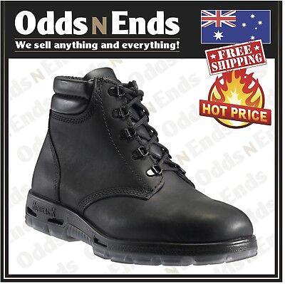 NEW - Redback Work Boots UABK Soft Toe BLACK Lace Up Boot - Australian Made