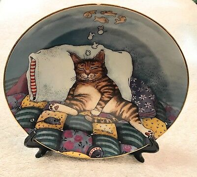 Cat Nap By Gary Patterson, Comical Cats By The Danbury Mint Plate Number B3866