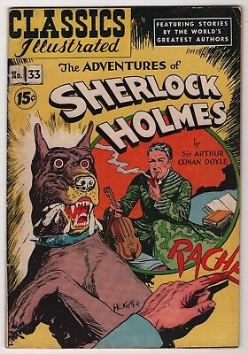 Classics Illustrated #33 Adventures of Sherlock Holmes edition 4A HRN89