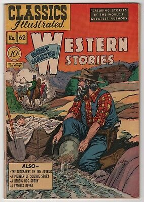 Classics Illustrated 62 nice 1st edition 1949 Western Stories HRN62 create-a-lot