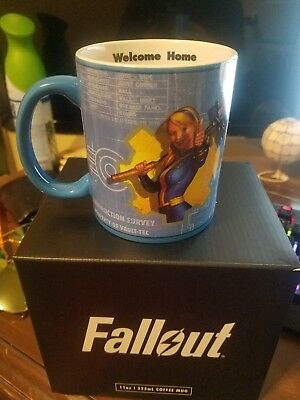 Fallout Vault Tec Schematic Mug Loot Crate Gaming Exclusive New