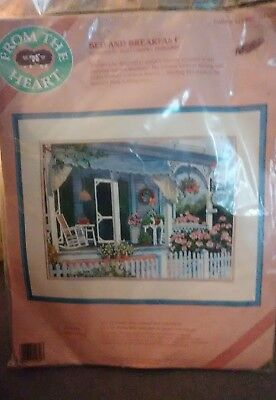 From The Heart Bed and Breakfast Crewel 16 Inch X 12 Inch #51050 Sealed Prev Own