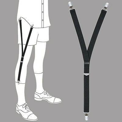 4*Men Elastic Garters Non slip Locking Socks Clamps Suspender Shirt Stays Holder