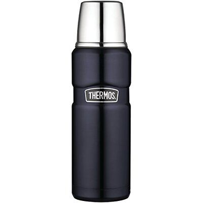 Thermos Stainless King 16 Ounce Compact Bottle Midnight Blue