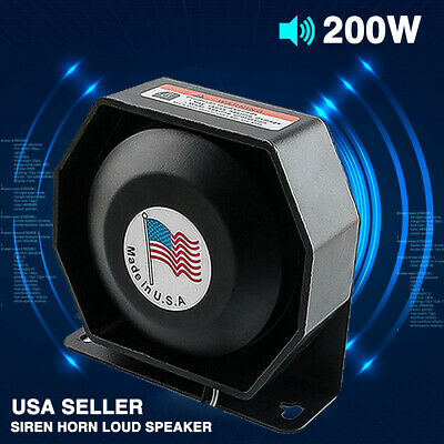 Universal 200W Car Alarm Warning Siren Compact Ultra Loud Speaker PA System Horn