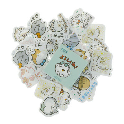 45pcs Naughty cat Paper Stationery Stickers Scrapbooking DIY Diary Album LabelSC