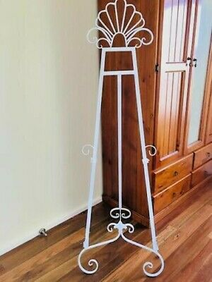 Large Ornate Iron Scroll Menu Sign Frame Wedding Board Mirror Easel Stand WHT