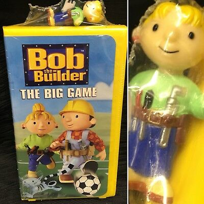 Rare New Sealed Bob the Builder The Big Game VHS Clam Shell Figurine Toy Yellow