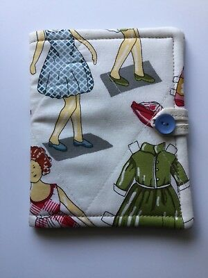 needlecase fabric Paper doll theme Felt page inside Gift Present Needles Book