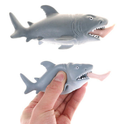 Soft Simulation Animal Shark Eating A Man Mini Doll Squeeze Decompression Toy FT
