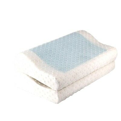 2pcs Supreme High Density Memory Foam Pillow with Cooling Gel Top Home Pillow