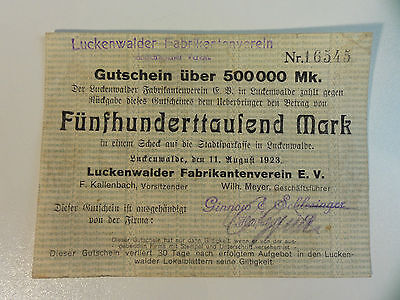 NOTGELD Luckenwalder Fabrikantenverein 1 different     Nr.208