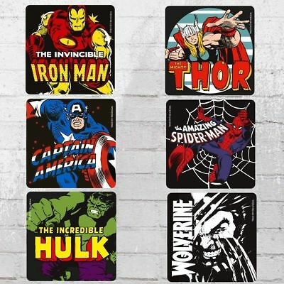 Logoshirt Untersetzer Set Mix Marvel Heroes Coaster multi Bierdeckel Beer Mats