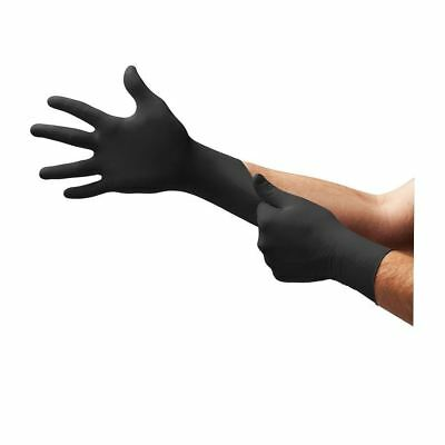 Box 100 Quality Ansell Microflex 93-852 Strong Black Nitrile Disposable Gloves