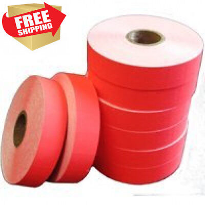 Red Labels for 1131 Price Gun, 1 Sleeve = 8 rolls, Ink Roller Included