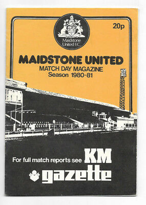 1980/81 FA Cup 2nd Round Replay - MAIDSTONE UNITED v. GILLINGHAM