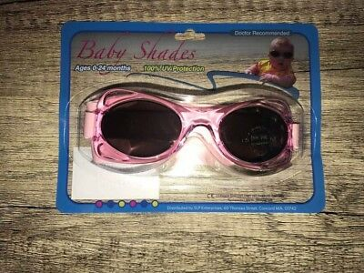Brand New Baby Shades With Strap Sunglasses - 0-24 Months  Pink
