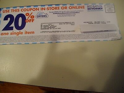 BED BATH & Beyond 20 % off single item coupon in store or online ...