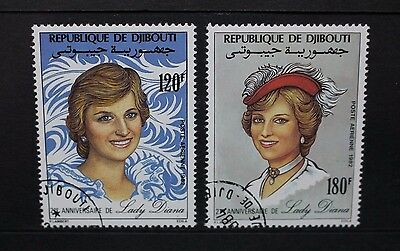 DJIBOUTI 1983 Diana Princess of Wales 21st Birthday. Set of 2 USED/CTO SG845/846