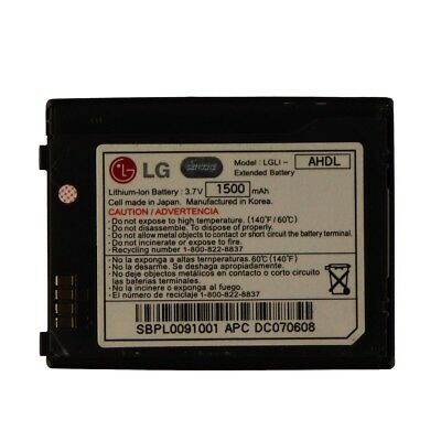 LG LGLI-AHDL Replacement Battery for LG VX8550 - Black 1500mAh