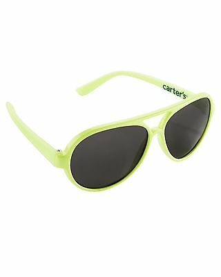 New Carter's Sunglasses Yellow Aviator size baby 0 - 24m NWT Flexible Arms Boys