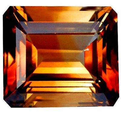 NATURAL EMERALD-CUT IMPERIAL TOPAZ 13 x 11.7 mm AMAZING FLASHING LOOSE GEMSTONE