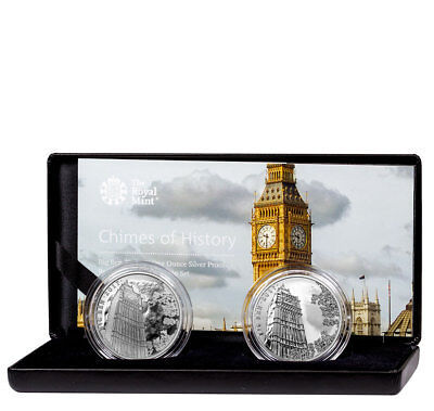 2017 Great Britain 1 oz. Silver Landmark of Britain Big Ben 2-Coin Set SKU53764