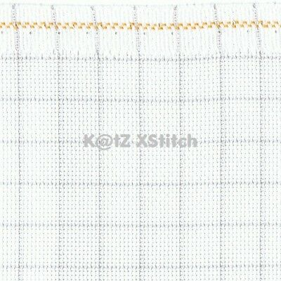 ZWEIGART 20ct WHITE EASY COUNT AIDA CROSS STITCH FABRIC - Various Sizes