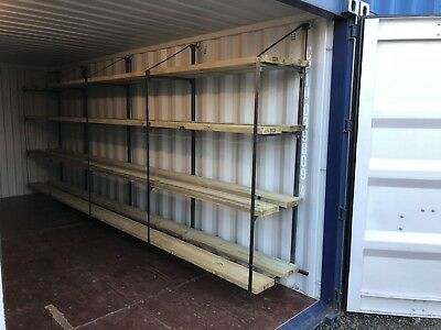 Shipping Container Shelving Bracket Large - Stronger Faster Easier Four Tier