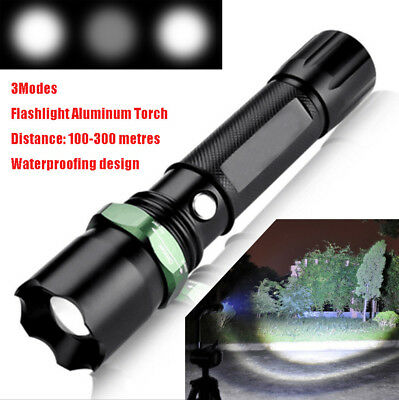 Tactical 5000LM Q5 LED 3 Modes Flashlight Torch 18650 Rechargeable Super Bright