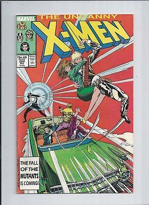 X-Men #224 VF (8.0) 1987 Marvel Comics Mutant Drawing card attached!