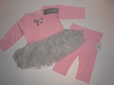 First Impressions Tutu Dress & Matching Leggings ~ Size 0-3 Months ~ NWT