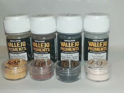 Vallejo Pigments acrylic paint pigment Dust and Dirt set  5g tubs 73.190