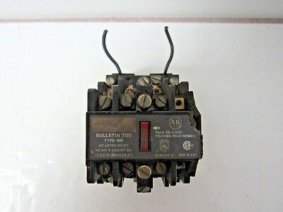 Allen Bradley Ac Latch Relay Bulletin 700 Type Nm 120V Coil