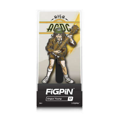 ANGUS YOUNG (AC/DC)  FIGPIN ENAMEL COLLECTOR FIGURE PIN w/ COLLECTOR CASE TY253