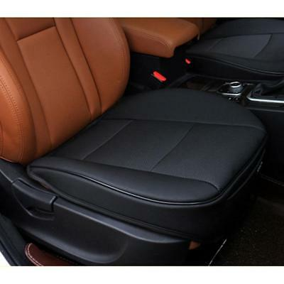 PU Leather Deluxe Car Cover Seattector Cushion Black Front Covers-Universal