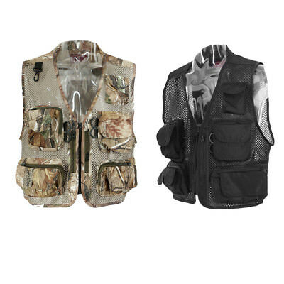 Men Mesh Vest Multi-pocket Fishing Photography Vest Outdoor Waistcoat Jacket