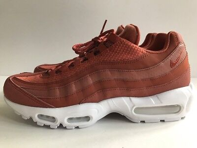 best service bf127 fbc94 NIKE AIR MAX 95 Premium PRM Shoes Dusty Peach White Rust Men's Sz 10  924478-200