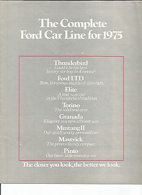 original 1975 Ford Full Line sales brochure