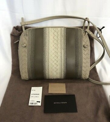 ca73fb607a Bottega Veneta Striped Leather Pillow Pouch Shoulder Crossbody Bag NEW  1850
