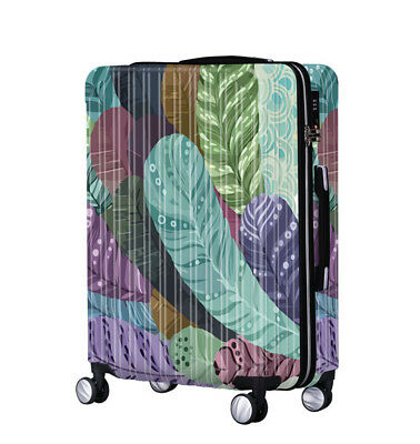 Leaves Lock Universal Wheel Travel Suitcase Trolley Bag Luggage 20 Inches
