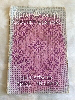Vintage Royal Society Crochet Lessons Illustrated No. 4 1914
