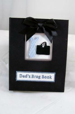 NEW Hard cover Dad's Photo Brag Book holds 36 4x6 Pictures - FREE Shipping