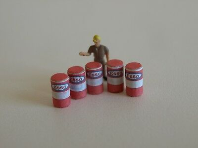 Life Like Extras. HO Scale Oil Barrels/Drums(5) - Esso