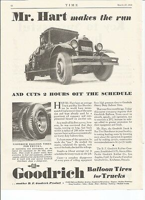 Original 1930 Vintage Print Ad for Goodrich Tires