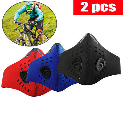 2 PCS Outdoor Sports Anti Smoke Dust Air Purifying Face Mask Cover Haze Filter