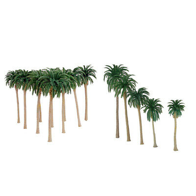 20 Pieces Plastic Model Coconut Palm Trees Train Model Set Accessories
