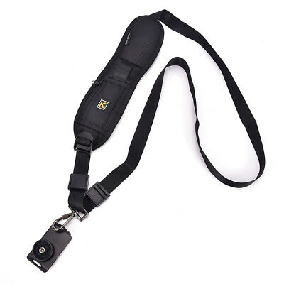 Single Shoulder Sling Belt Strap For DSLR Digital SLR Camera Quick Rapid BlackSC