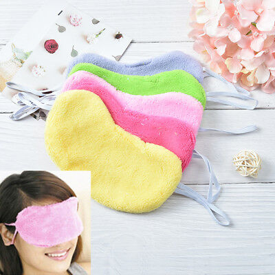 soft cotton travel sleeping blindfold shade eye mask cover moisturizingSC